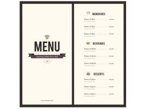Thiết kế và in thực đơn Nhà Hàng rẻ – đẹp – sang